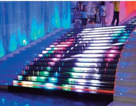 interactive staircase display