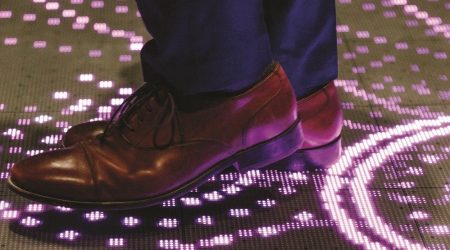 Led floor interactive display planete 13 Las vegas 1