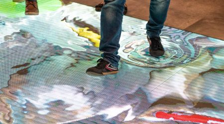 Led floor interactive display planete 13 Las vegas2