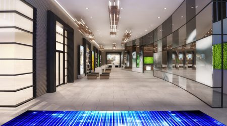 Led floor interactive display planete 13 Las vegas3