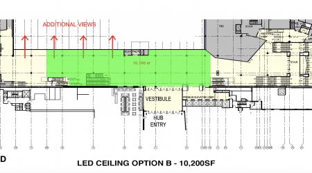 LED ceiling option B project TD garden Boston