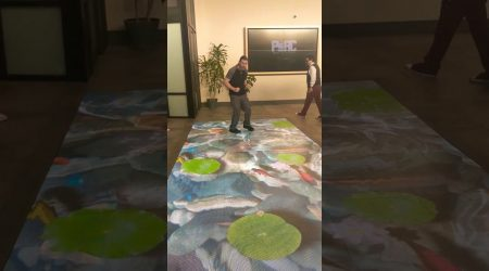 Led Floor interactive on store planet 13