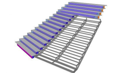CAO-conception-intallation-staircase-led-display-screen-for-lido